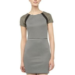 NWT Lucca Couture S Contrast Striped Sheath Dress